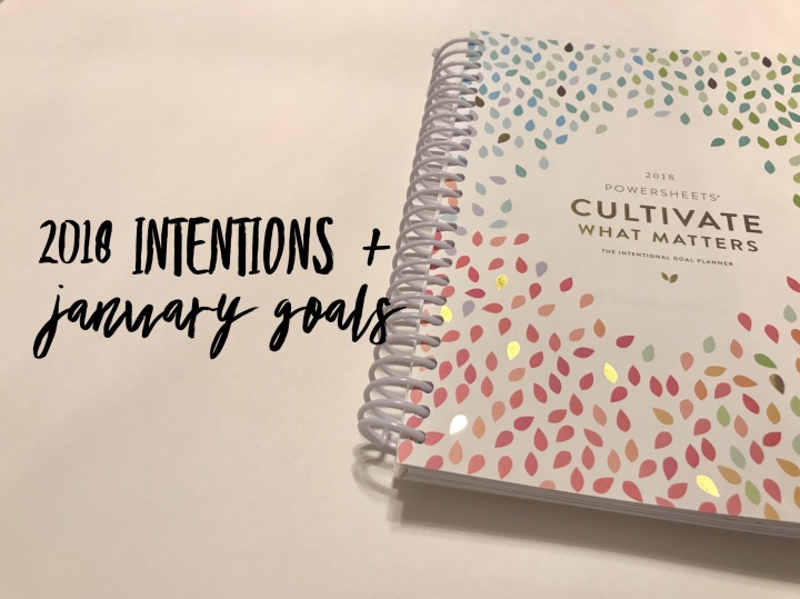 2018 Intentions + January Goals