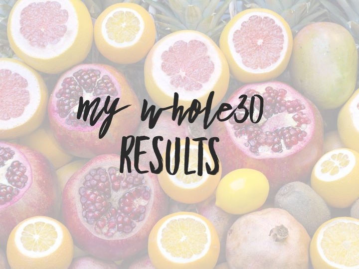 My Whole30 Results