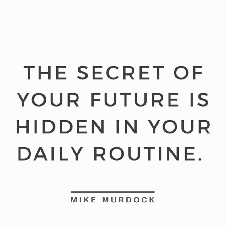 daily routine quote