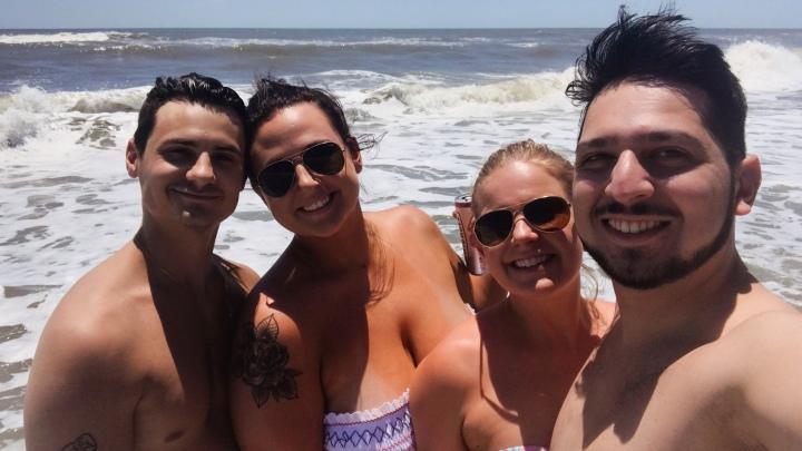 Friends on the beach - Pine Knoll Shores, NC