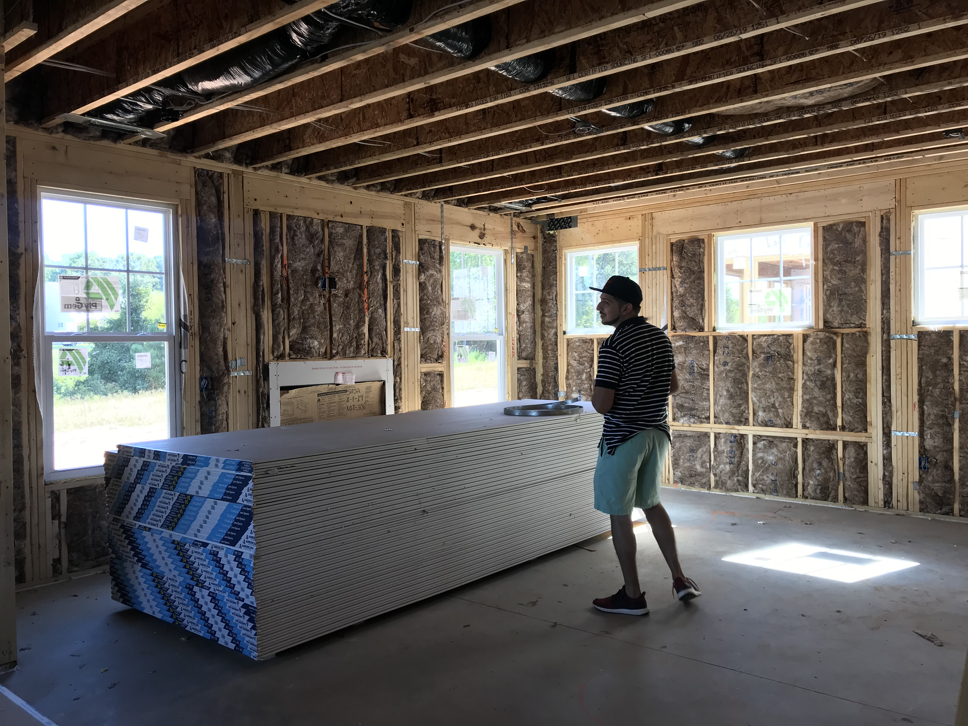 Future great room with lots of natural light