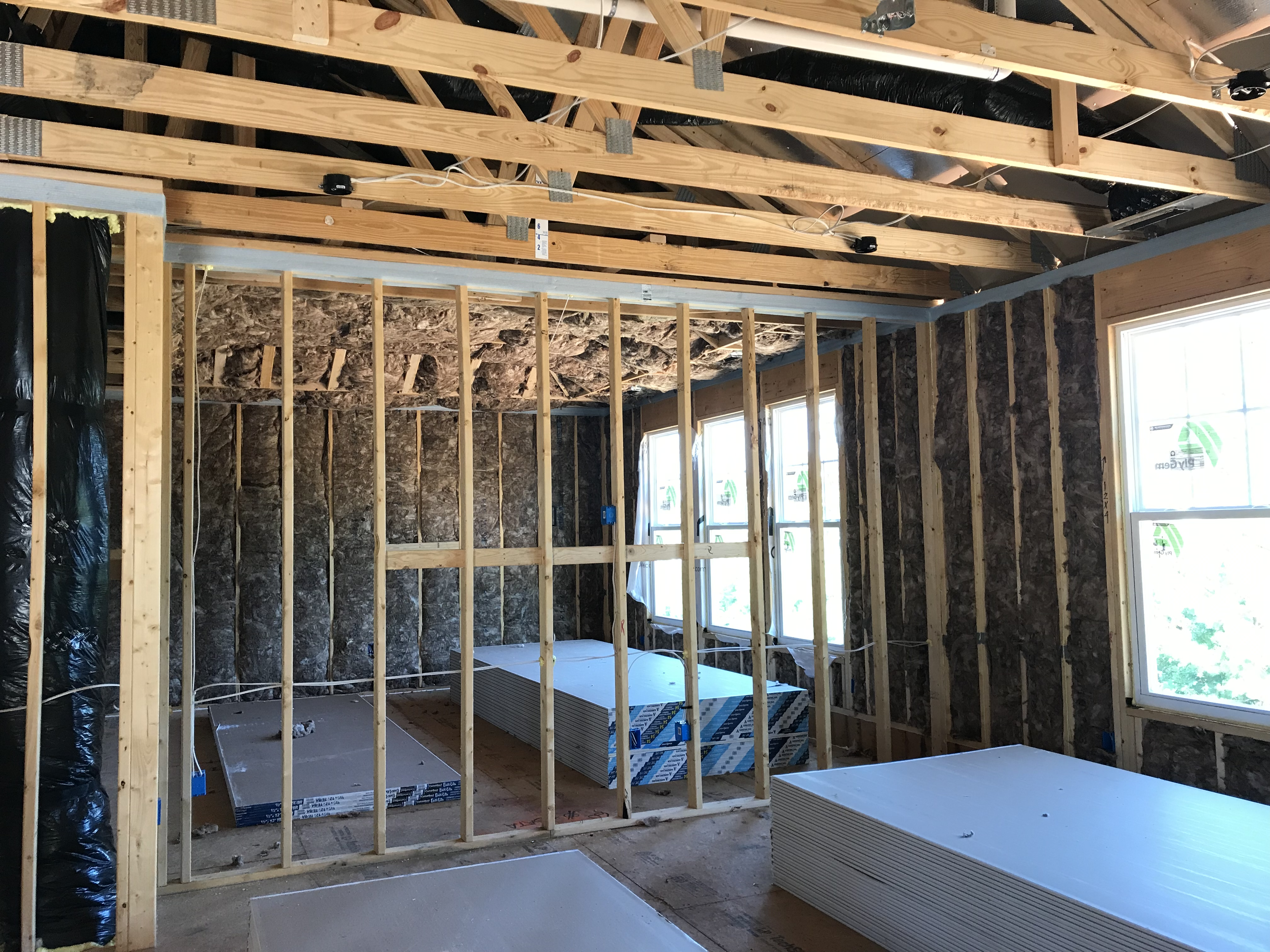 View from loft to owner's bedroom
