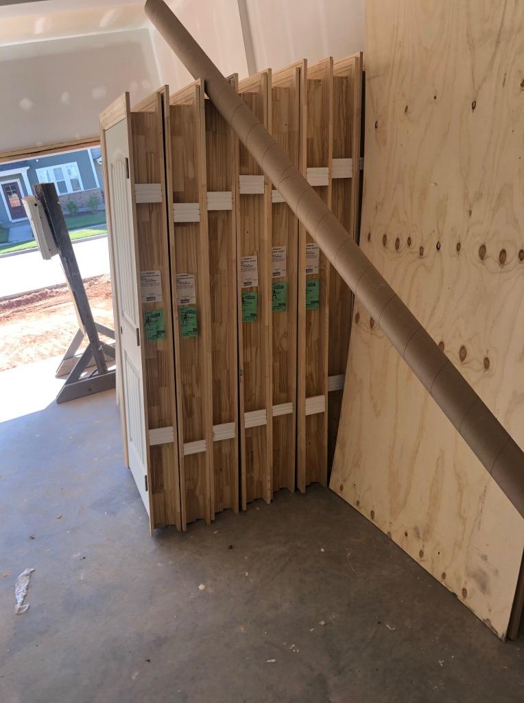 Interior doors were delivered