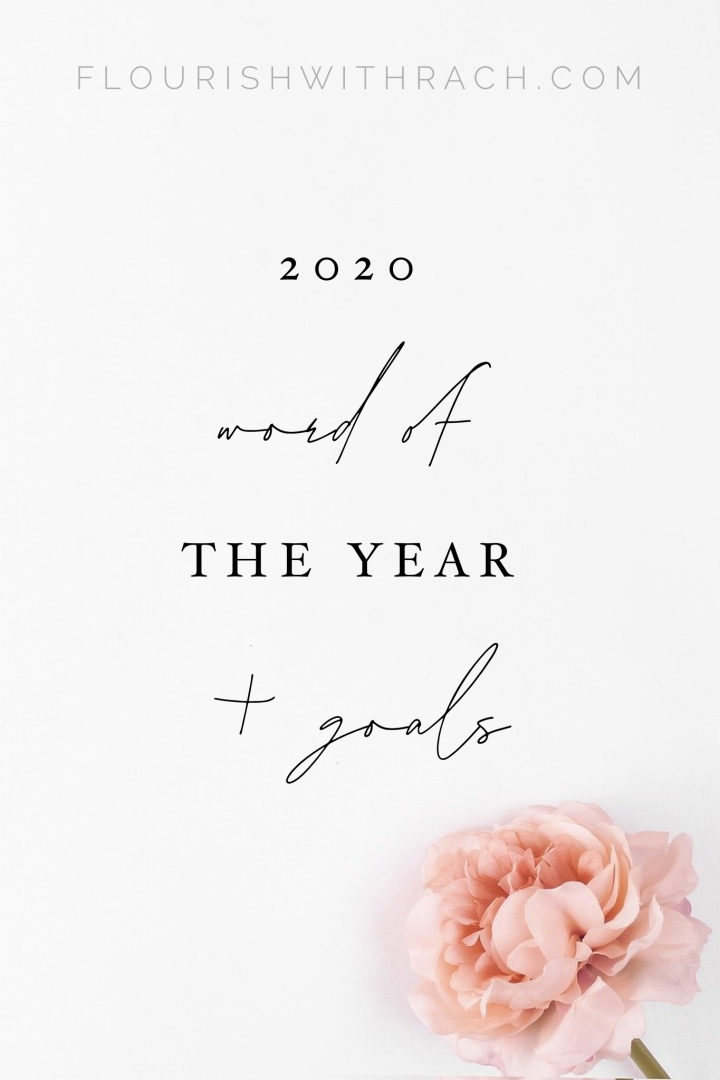 2020 Word of the Year + Goals